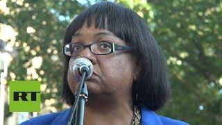 ABBOTT LABORATORIES Diane Abbott rallies against Boris Johnson night before result