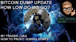 VERY IMPORTANT BTC UPDATE | HOW TO MAKE MONEY DURING A DUMP