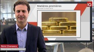 GOLD - USD Bourse - L'or travaille d'anciens niveaux techniques - IG 13.03.2019
