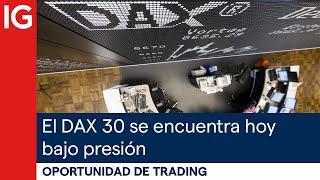 DAX30 PERF INDEX El DAX se encuentra hoy bajo presión   Oportunidad de trading