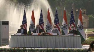 Les Etats-unis et l'Inde se rapprochent au sujet du renseignement militaire