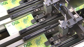 How euro banknotes are produced