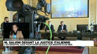 Début du procès de l'ancien ministre Matteo Salvini pour avoir bloqué des migrants en mer