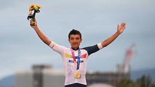 GOLD - USD Histórico: el ecuatoriano Richard Carapaz consiguió el oro en ciclismo de ruta