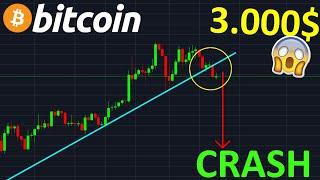 BITCOIN BITCOIN 3.000$ CRASH PUISSANT EN APPROCHE !? btc analyse technique crypto monnaie