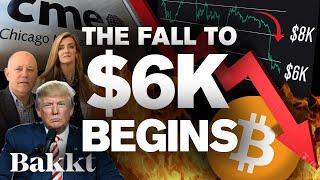 BITCOIN BITCOINs Fall to 6k Begins!? BEARs, Bakkt & CMEs Attack