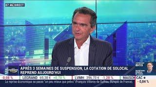 SOLOCAL GROUP Pierre Danon (Solocal) : Après 3 semaines de suspension, la cotation de Solocal reprend aujourd'hui