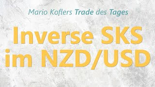 NZD/USD Trade des Tages - Inverse SKS im NZD/USD