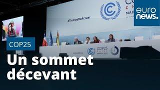Clap de fin sur une COP25 décevante