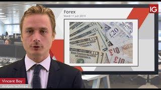 GBP/USD Bourse - GBPUSD, statistiques ce matin au Royaume Uni - IG 11.06.2019