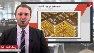 GOLD - USD Bourse - GOLD, la correction se prolonge - IG 14.10.2019