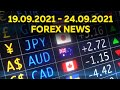 WEEK 38: Forex News and Economic Calendar