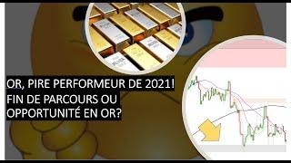 GOLD - USD L'or pire performeur de 2021! Fin de parcours ou opportunité en or? (20/02/21)