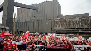 THYSSENKRUPP AG O.N. Thyssenkrupp: 6000 Stahlarbeiter demonstrieren für Erhalt ihrer Jobs
