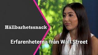 DOW JONES INDUSTRIAL AVERAGE Hållbarhetssnack 🌱 Adela Dashian om att vara ung kvinna på Wall Street