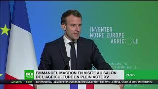 Emmanuel Macron appelle à réinventer la PAC
