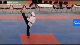 GOLD - USD Nigeria: Hochschwangere Athletin holt Gold in Taekwondo