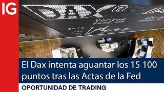 DAX30 PERF INDEX El DAX 30 intenta AGUANTAR los 15 100 puntos tras las Actas de la FED | Oportunidad de trading