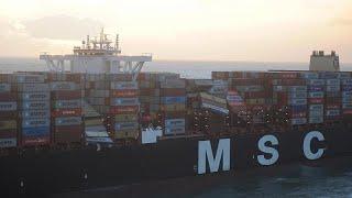 BRENT CRUDE OIL Des conteneurs à la dérive en mer du Nord