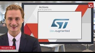 STMICROELECTRONICS Bourse - STMicroelectronics, le secteur technologique reste soutenu - IG 25.07.2019
