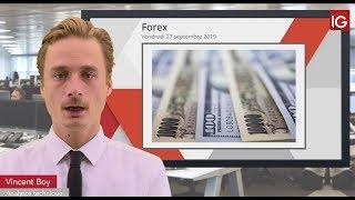 USD/JPY Bourse - USDJPY, probable retour sur les valeurs refuges - IG 27.09.2019