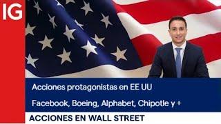 FACEBOOK INC. 🔴 Análisis de las ACCIONES protagonistas en Wall Street Facebook, Boeing, Alphabet, Chipotle y +