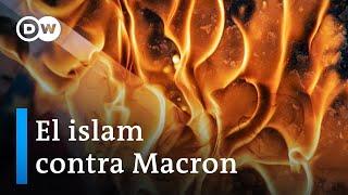 Macron enfrenta creciente ira en el mundo musulmán