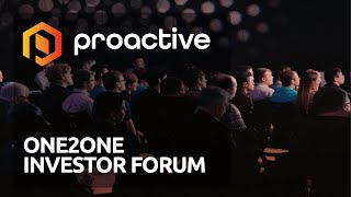 INVESTOR AB [CBOE] Proactive ONE2ONE Investor Forum - Thursday January 14th from 6:00 pm GMT.