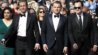 "Tarantino ""tarantinea"" en Cannes con di Caprio y Pitt"