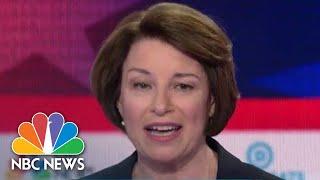 Klobuchar, Julian Castro, And Elizabeth Warren Share Views On A Women's Right To Choose | NBC News