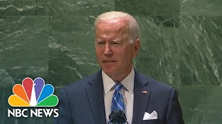 Biden's First U.N. Speech: Global Cooperation On Covid And Climate Change