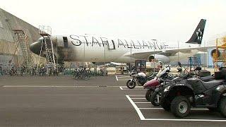 LUFTHANSA AG VNA O.N. Lufthansa plane damaged in fire