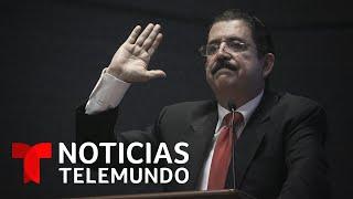 Arrestan a Manuel Zelaya en un aeropuerto con 18,000 dólares | Noticias Telemundo