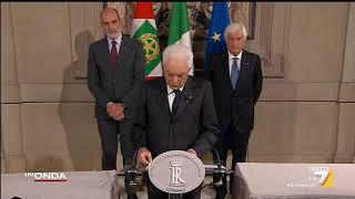 Sergio Mattarella: 'Possibili solo governi che ottengono fiducia del Parlamento'