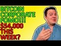 BITCOIN LIVE FOMO BY CORPORATIONS!!! PRICE COULD HIT $54,000 THIS WEEK! Daily Crypto News