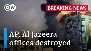 Israeli airstrike flattens Gaza tower housing media outlets | DW Special Report