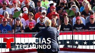 Donald Trump asiste a un acto masivo en Florida, donde ejercerá su voto anticipado este sábado