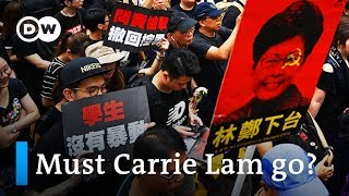 Hong Kong protesters demand pro-Beijing Carrie Lam step down | DW News