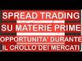Trading sulle Materie Prime con lo SPREAD TRADING: Opportunità durante il CROLLO