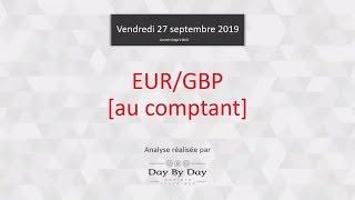 EUR/GBP Vente EUR/GBP - Idée de trading IG 27.09.2019