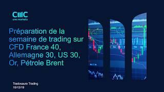 CAC40 INDEX Préparation de la semaine de trading sur #cfd France40, Allemagne30, US30, Pétrole, Or [15/12/19]