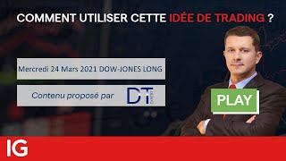 DOW JONES INDUSTRIAL AVERAGE 🔵 DOW-JONES LONG - Idée de trading turbo DT EXPERT du 24 mars 2021