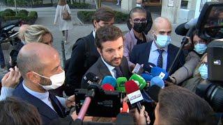 """Casado acusa a Sánchez de """"ocultar"""" lo que ha firmado con Europa"""