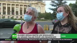 Covid-19 : le ministère de la Santé reçoit 800 soignants au Grand Palais pour les remercier