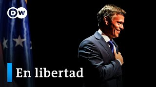 Primera rueda de prensa de Leopoldo López