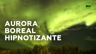 AURORA Aurora boreal grabada a cámara rápida en Canadá
