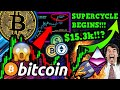 BITCOIN SUPERCYCLE BEGINS!! BIG MONEY EYES DEFI!! $15,300 TARGET!!! THANK YOU!