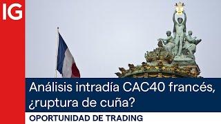 CAC40 INDEX Análisis intradía CAC40 francés, ¿ruptura de cuña? | Oportunidad de trading