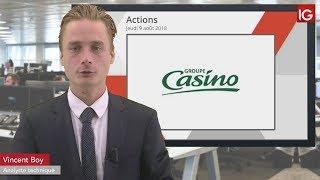 CASINO GUICHARD Bourse - Action Casino Guichard, dégradation et baisse d'objectif de cours - IG 09.08.2018