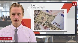 EUR/USD Bourse - EURUSD, sous pression après le Brexit? - IG 21.10.2019